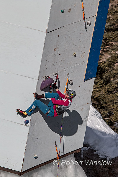 Rebecca Lewis, 2020 Ouray Ice Festival, Ouray, Colorado, USA, North America