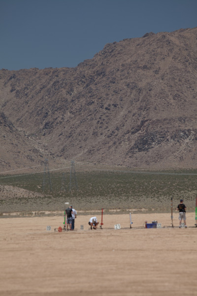 Wolfram preparing his rocket for launch.