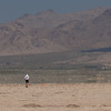 Wolfram making the long walk to retrieve his rocket.