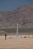 Wolfram's rocket leaving the pad.