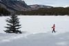 Model Released, Female Snowshoer, Marilyn Leftwich, Haviland Lake, San Juan National Forest, Durango, Colorado, USA, North America