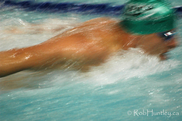 Butterfly swimmer at the Ontario Masters Swimming Championships which were held in Ottawa, Ontario at the Nepean Sportsplex. <br /> © Rob Huntley