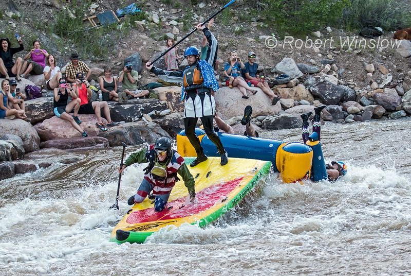 Whitewater Rafting, Animas River Days, Animas River, Smelter Rapid, Durango, Colorado, USA, North America