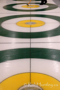 Curling action at the Granite Curling Club.