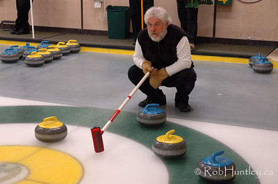 Curling action at the Granite Curling Club of West Ottawa.