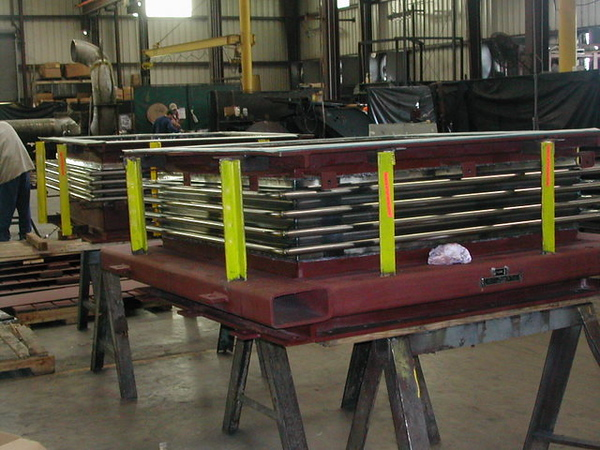 Single Rectangular Metal Expansion Joint during fabrication