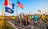 Ragbrai 2014 - Leaving Rock Valley, Iowa, in early morning - D1-C2-0572 - 72 ppi