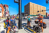 ACA - TransAm rider(s) in downtown Chanute, Kansas - C2-0080 - 72 ppi