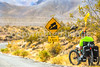 Cyclist near Salsbury Pass in Death Valley National Park, California - D5-C1-0159 - 72 ppi