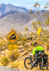 Cyclist near Salsbury Pass in Death Valley National Park, California - D5-C1-0152 - 72 ppi
