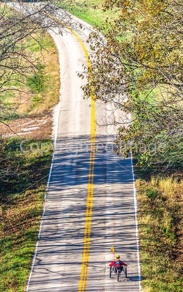Touring triker on TransAm between the Mississippi River & Farmington, MO - 72 ppi - smaller file - 1