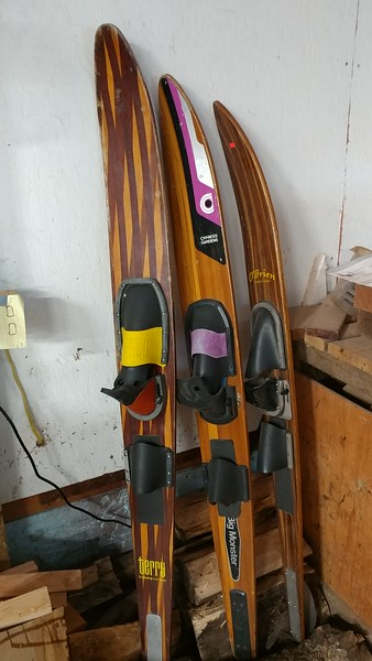 Old water skis