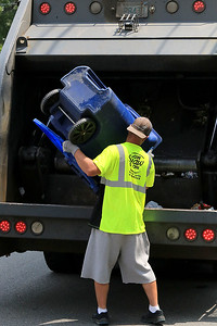 Recycling in Leominster, July 17, 2018