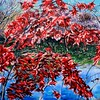 """""""Red Fall in Plainsboro"""" (acrylic on canvas) by Victor Ovsyannikov"""