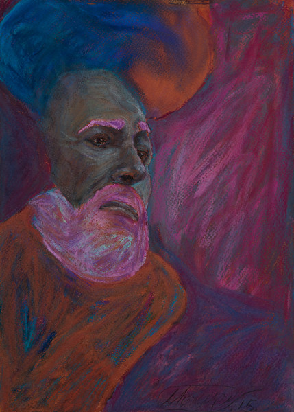 """""""INSPIRATION pavarotti"""" (pastel on paper) by Maksim Mezhuritsky"""