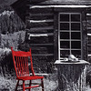 """Red Chair"" (photography) by Becky Donatucci"