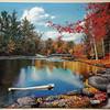 """Pondering Leaves"" (dripped gloss enamel) by Michael Romero Duran"