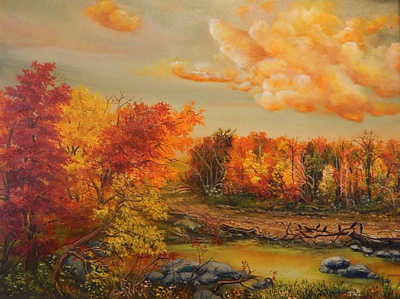 """Sundown"" (oil on canvas) by Dimitrina Kutriansky"