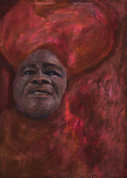 """INSPIRATION james brown"" (pastel on paper) by Maksim Mezhuritsky"