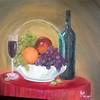 """Sangria"" (oil) by Jackie Pierson"