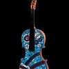 """The violin sings, but the fiddle dances."" (reclaimed mosaic violin) by Jane Glotzer"