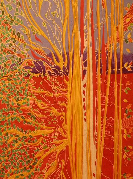 """Linear Season"" (mixed media) by Susan Funk"