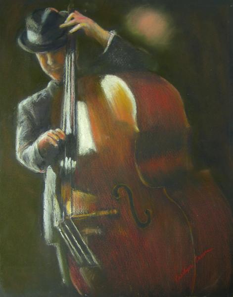 """Jazzman"" (pastel) by Carolyn Lewis"