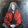 """The Girl in the Red Jacket"" (oil on canvas) by Crista Bromley"