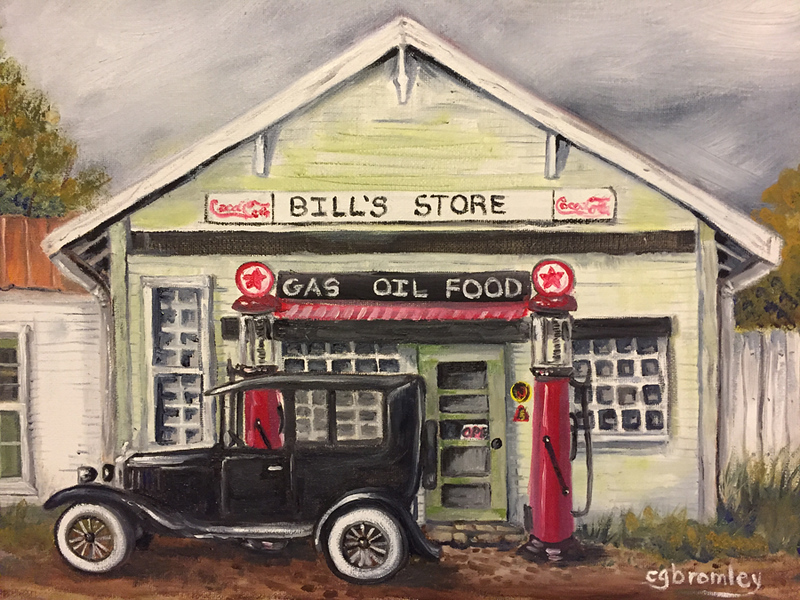 """Bills Store"" (oil on canvas) by Crista Bromley"
