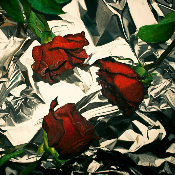 """Three"" (oil on canvas) by Kate Kamington"