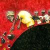"""Sacrifices"" (acrylic and pencil on paper) by Olga Temnikova"