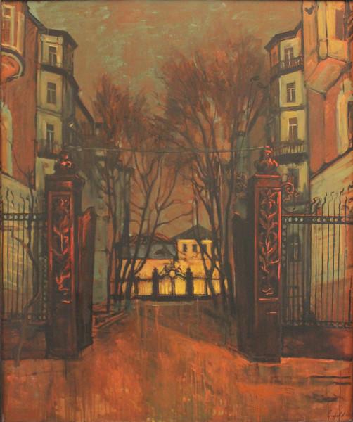 """The night"" (acrylic) by Anton Startcev"