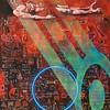 """""""Eternal singularity VI"""" (oil, acrylic, spray paint, ash on canvas) by Mark Lloyd"""