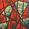 """""""Mind Fire"""" (tempera on paper) by Irina Petrova"""