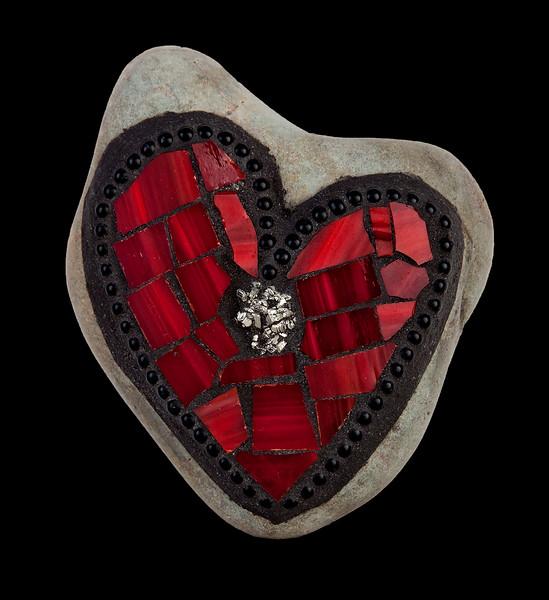 """Love on the Rocks: Foolish Heart of Gold"" (reclaimed mosaics) by Jane Glotzer"
