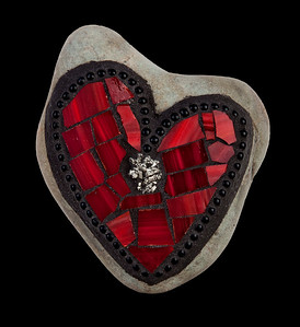 """Love on the Rocks: Foolish Heart of Gold"" (reclaimed mosaics) by 	Jane Glotzer"