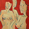 """Three Girls"" (oil on canvas) by Irina Petrova"