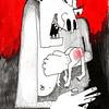 """She lost her temper"" (oil pastel, graphite) by Alexandra Prokopova"