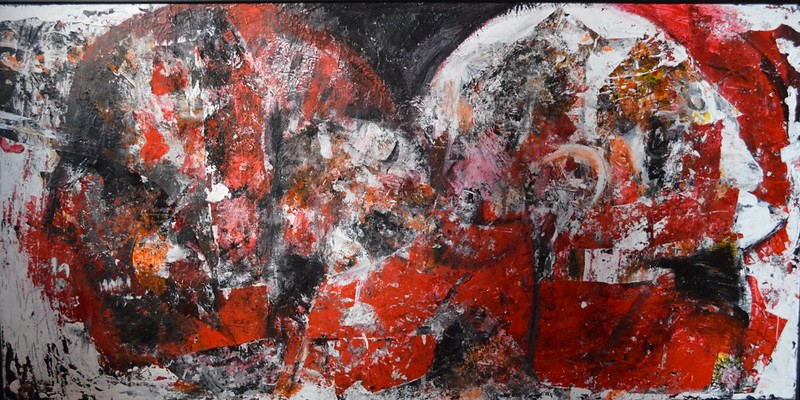 """""""The two sides of personality"""" (acrylic, graphite, foil) by Teodora Stojanovic"""