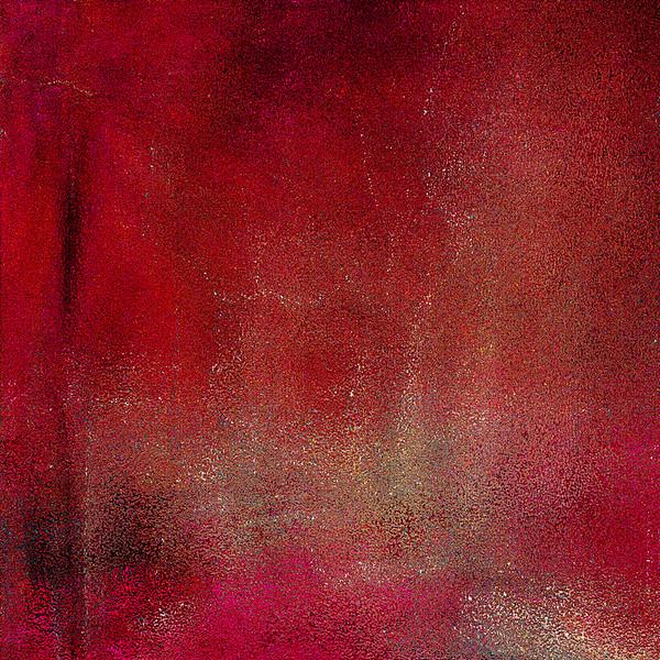 """Resolution in Red"" (digitally altered photograph on aluminum) by John Michael Edington"
