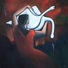 """Release"" (acrylic on linen) by Syra Larkin"