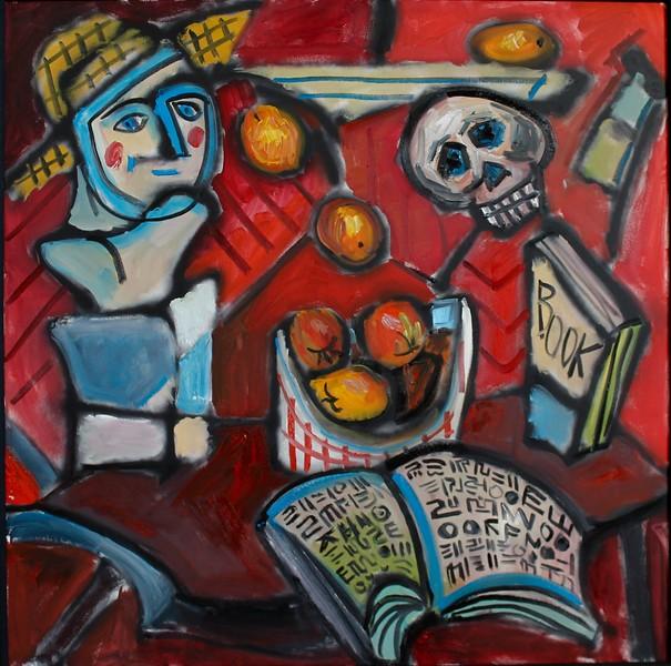 """Red Still Life"" (mixed media) by William Taylor"