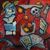 """Red Still Life"" (mixed media) by William Taylor"