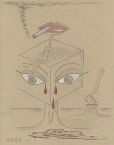 """The Risk of Speaking My Mind"" (graphite on paper) by Margot Collins"