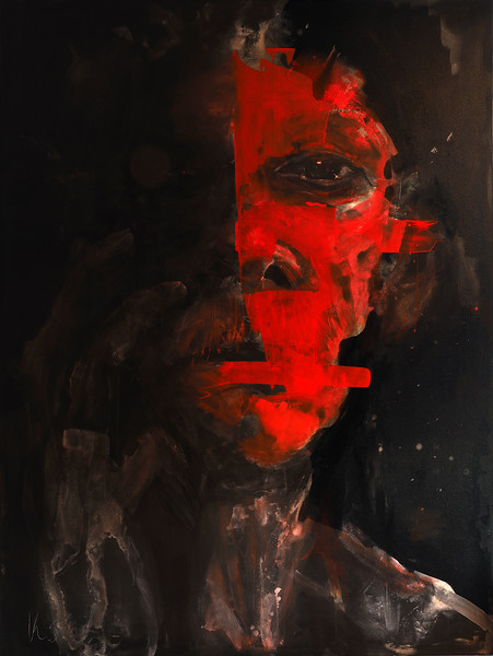 """Willie 5"" (acrylic) by William Stoehr"