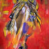 """War Horse"" (acrylic on paper) by Polina Khlystova"