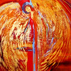 """red angel"" (acrylic) by Laura Thrubon"