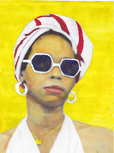 """Ms. Cool"" (watercolor) by William Campbell"