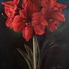 """""""Amaryllis"""" (acrylic on cardboard) by Katya Greco"""