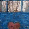 """Blue Door; Red Heart"" (photgraphy) by C E Morse"